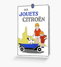 1920s remake Citroen French toy cars ad Greeting Card