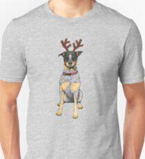 """Australian Cattle Dog, Blue Heeler, """"Bah Humbug"""" T-Shirt"""