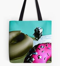 Doughnuts and Toy Robot 02 Tote Bag