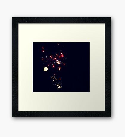 Moonfires Framed Print