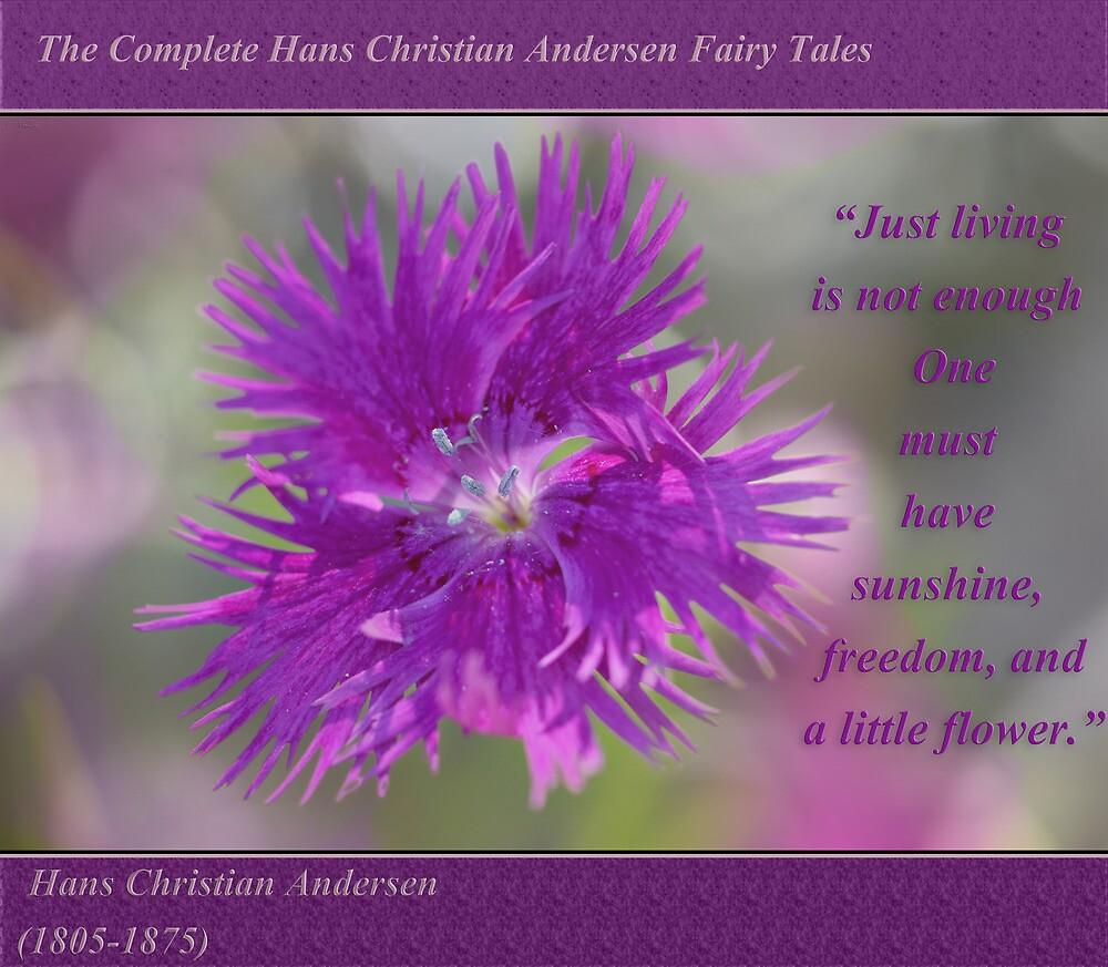 Swirls of Cheerfulness ~ Bachelor's Button by JETAdamson