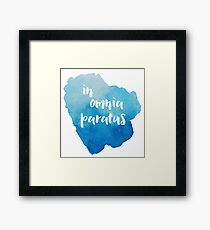 In Omnia Paratus - Ready for Anything Framed Print