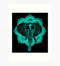 Hindu god elephant Ganesha Art Print