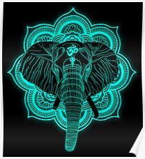 Hindu god elephant Ganesha Poster