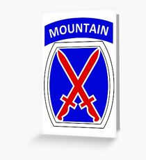 10th Mountain Division Logo Greeting Card