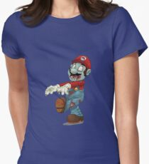 Zombie Mario Women's Fitted T-Shirt