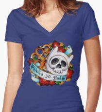 Pucha Yo Buns Women's Fitted V-Neck T-Shirt