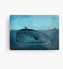 Whale and dog Metal Print