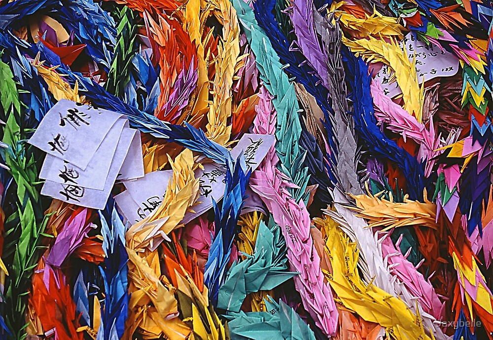 Origami Cranes - Peace Park Hiroshima, August 6 2003 by Jaxybelle