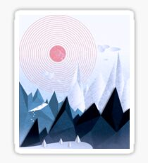 Crystal Ice Mountains Sticker