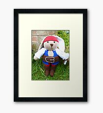 Knitted Pirate Framed Print