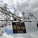 Intricate Iron Work ~ Old Ship Inn by Clive