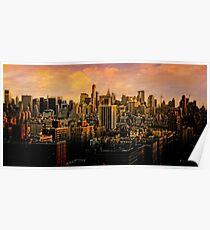 Gotham Sunset Poster