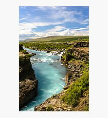 Hvítá og Hraunfossar (White-river and Lava-falls) Photographic Print