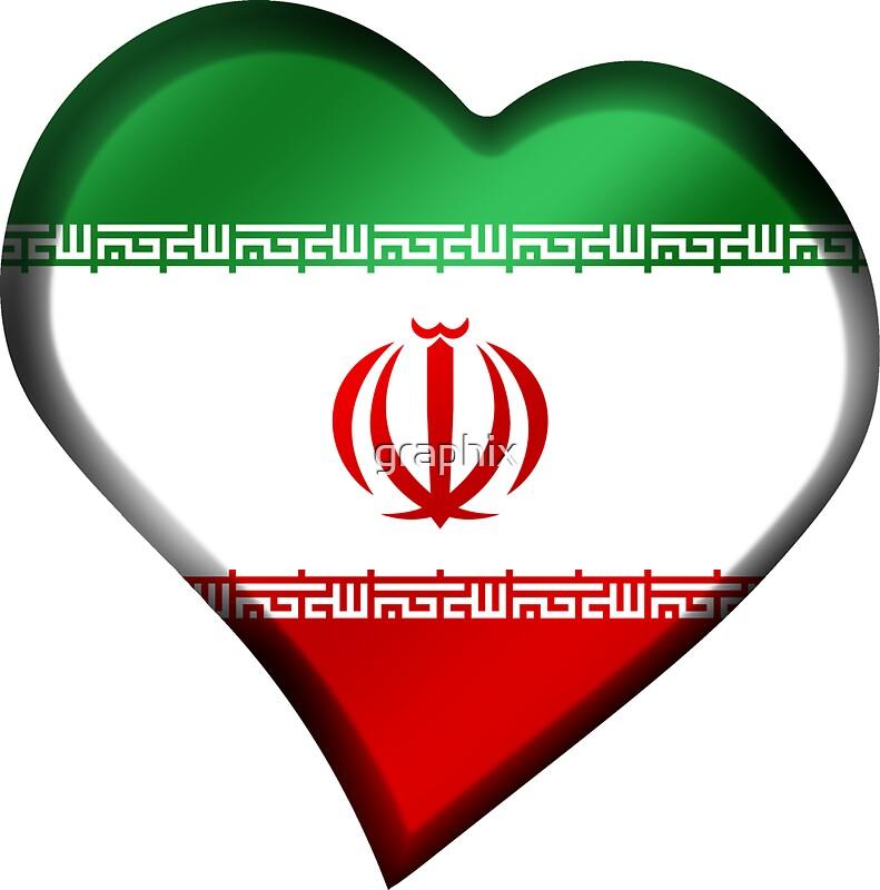 Iranian Flag Iran Heart Stickers By Graphix Redbubble