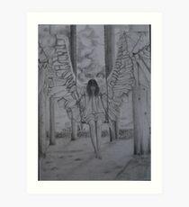 Swinging Angel Art Print