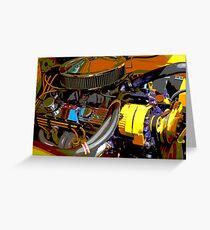 Chevrolet Engine Greeting Card