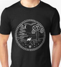Alces Alces White Outlines T-Shirt