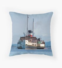 Paddle Steamer Waverley Throw Pillow
