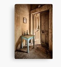 The Blue Table Canvas Print