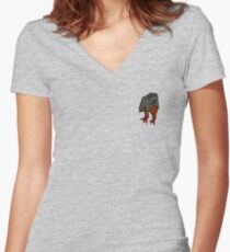 TROOPER CHICKEN Women's Fitted V-Neck T-Shirt