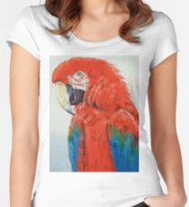 Crimson Macaw Women's Fitted Scoop T-Shirt