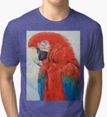 Crimson Macaw Tri-blend T-Shirt