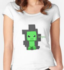 Creeper said sowwy Women's Fitted Scoop T-Shirt