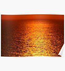Lake Michigan Sunrise on the Horizon Poster