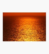 Lake Michigan Sunrise on the Horizon Photographic Print