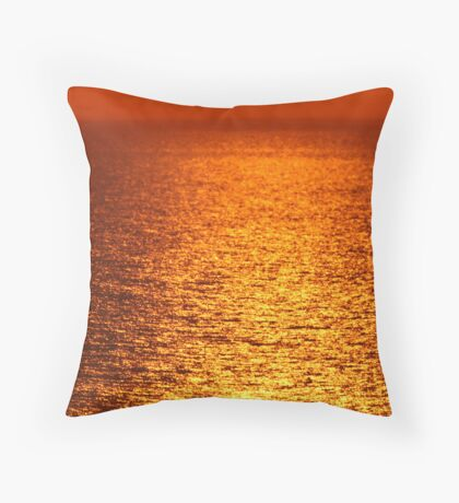 Lake Michigan Sunrise on the Horizon Throw Pillow
