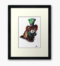 mad hatter ferret Framed Print