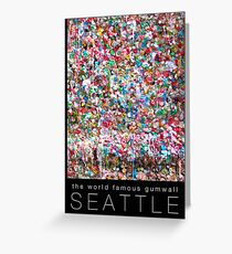 Gum Wall of Seattle # 1 Greeting Card