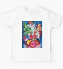 SANTA WITH CHRISTMAS TREE AND GIFTS Kids Clothes