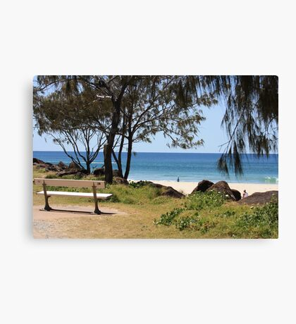A Bench with a View on the Gold Coast. Canvas Print