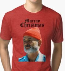 Murray Christmas - Bill Murray  Tri-blend T-Shirt