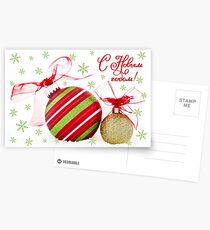 Russian New Year Greeting Card Ornaments Postcards