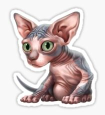 Cat-a-clysm: Sphynx kitten - Classic Sticker