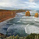 Gibson Steps. Port Campbell National Pk, Victoria, Australia.  by Ralph de Zilva