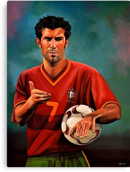 Luis Figo Painting by PaulMeijering