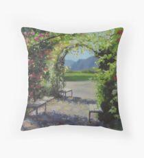 Vineyard Gardens Throw Pillow