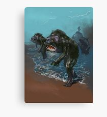 Deep ones from Innsmouth HP Lovecraft Horror Halloween Christmas Canvas Print