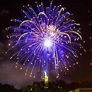 Blue Fireworks by cadman101