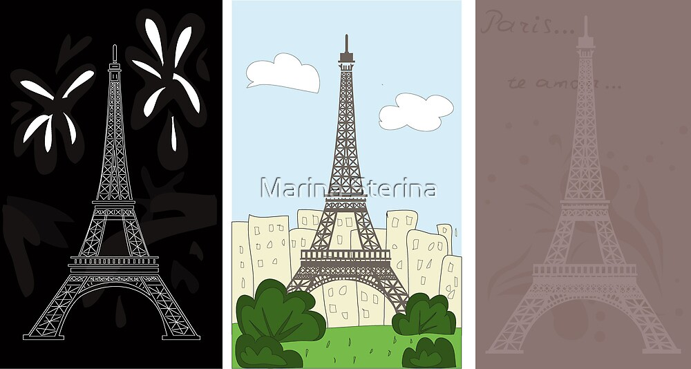 Eiffel tower by Marina Sterina