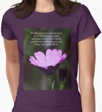 Your Hearts will Rejoice John 16:22 Women's Fitted T-Shirt