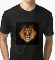 artistic lion portrait Tri-blend T-Shirt