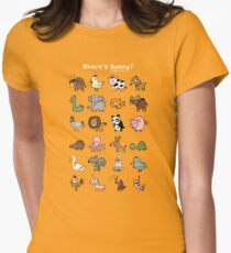 Where's Bunny? Women's Fitted T-Shirt