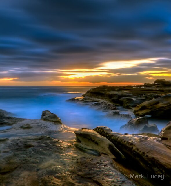 Illuminated Rock by Mark  Lucey