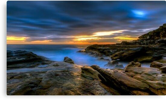 Illuminated Rock by Mark  Lucey