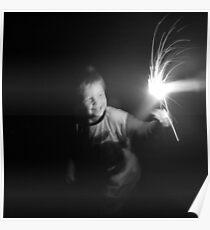 """Sparkler Fun 2""  by Carter L. Shepard Poster"